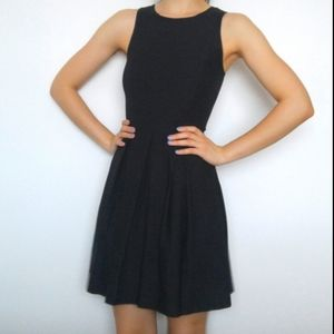 Black High Neck Fit and Flare Dress